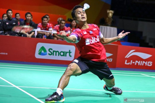 Anthony Ginting terpelanting di babak kedua Thailand Open II