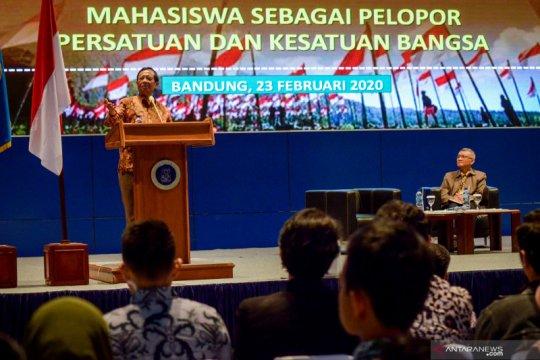 Menko Polhukam paparkan soal Bela Negara di hadapan mahasiwa se Kota Bandung