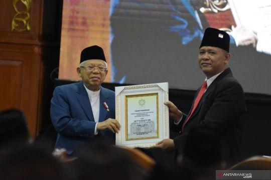 Wapres terima gelar kehormatan Bapak Ekonomi Syariah Indonesia