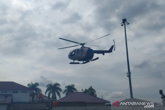 Gubernur - Kapolda Babel gunakan helikopter awasi penanganan COVID-19