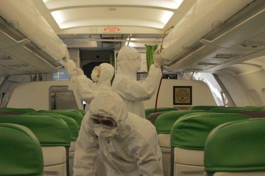 Maskapai Citilink melakukan disinfeksi terhadap seluruh armada pesawat