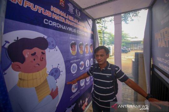 Bilik disinfektan di Satpas SIM Tangerang