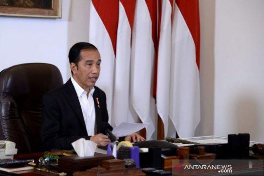 Presiden Jokowi tidak bagikan paket sembako di Istana Kepresidenan Bogor