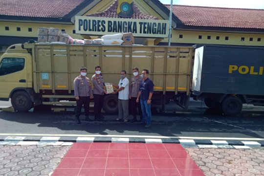 PT Koba Tin salurkan 2,5 ton beras untuk keluarga terdampak virus COVID-19