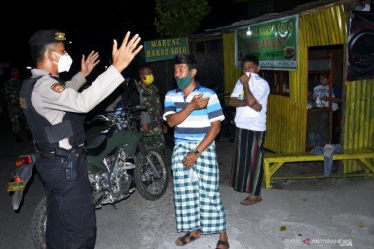 Patroli jelang penetapan PSBB di Gowa