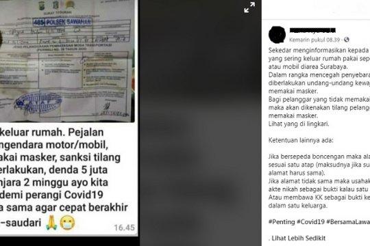 Polri tangani 103 kasus hoaks penyebaran COVID-19 di media sosial