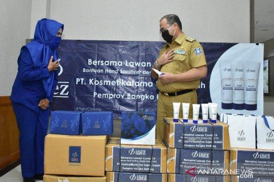 Gubernur Babel apresiasi bantuan hand sanitizer PT Kosmetikatama Super Indah