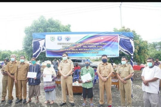 Bantuan langsung tunai dari dana desa mulai disalurkan di Kabupaten Bangka Barat
