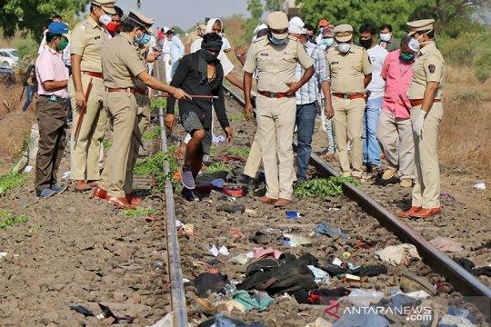 Kereta api di India hantam sekelompok pekerja migran yang tidur di lintasan rel, 14 orang tewas