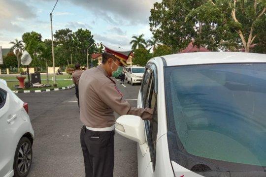 Ditlantas Polda Bangka Belitung tertibkan kendaraan anggota