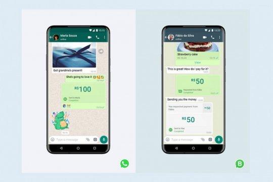 Dari WhatsApp bisa kirim uang dan bayar tagihan