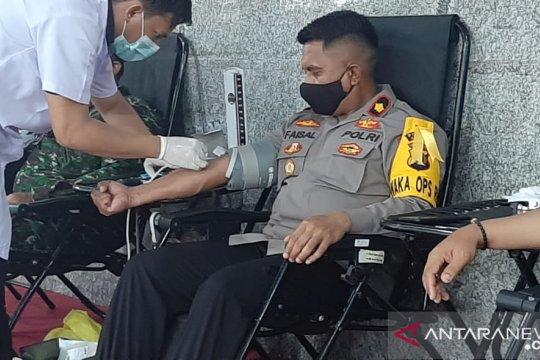 Polres Bangka berhasil kumpulkan 48 kantong darah
