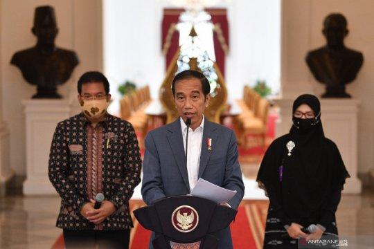 Presiden sampaikan keterangan pers