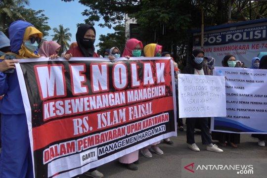 Tenaga kesehatan Rumah Sakit Islam Faisal Makassar protes kebijakan manajemen