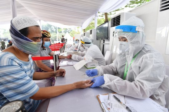 Tes cepat BIN di Pamulang , Tangerang Selatan 10 orang reaktif COVID-19