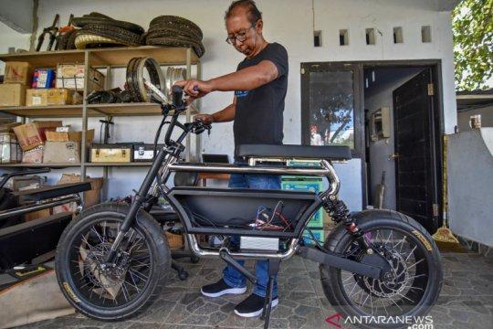 Sepeda listrik produk IKM Lombok