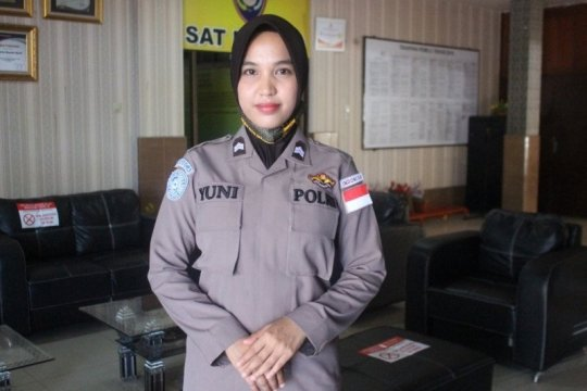 Polwan Aceh Briptu Yuni Lestari dapat tugas ke Afrika Tengah