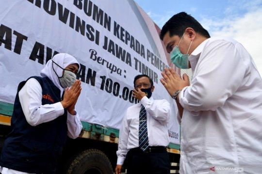 BUMN serahkan bantuan penanganan COVID-19 di Jawa Timur