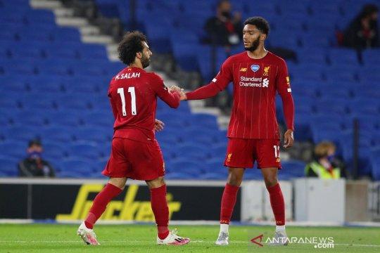 Salah dua gol satu assist ketika Liverpool bekuk Brighton skor 3-1