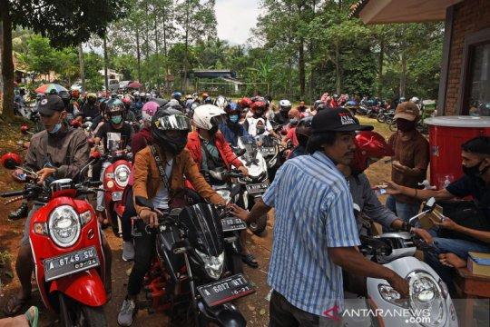 Pengunjung serbu tempat wisata di Serang
