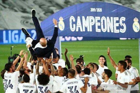 Real Madrid memastikan gelar juara Liga Spanyol