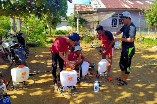 Mahasiswa UBB bantu sosialisasi tatanan hidup baru di Bangka Barat
