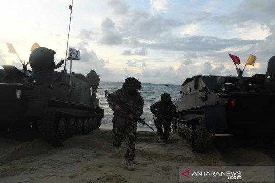 Latihan tugas tempur TNI AL