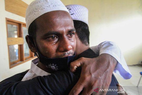 Begini suasana shalat Idul Adha pengungsi Rohingya di Aceh