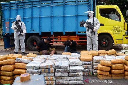 BNN gagalkan penyelundupan 500 kg ganja dari Aceh