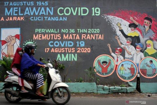 Mural bertema Semangat Kemerdekaan Melawan COVID-19