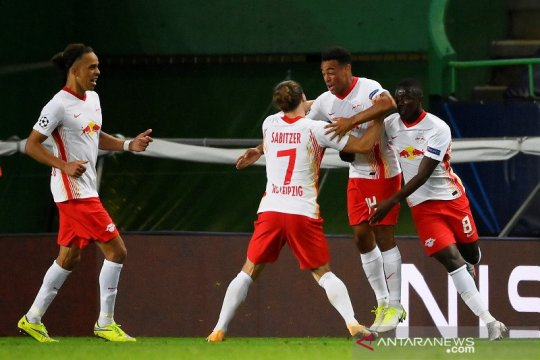 RB Leipzig pukul Atletico Madrid 2-1 demi capai semifinal Liga Champions