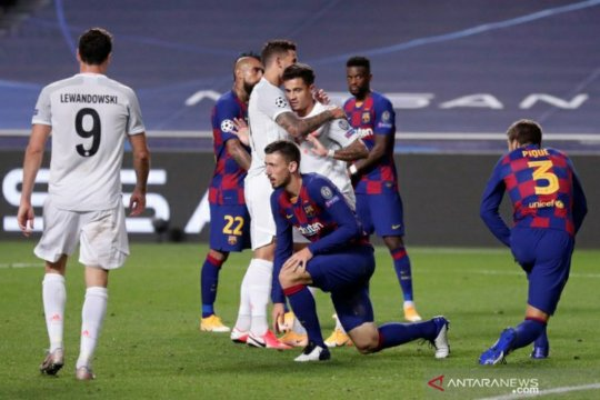 Bayern Munich menggila saat menghantam Barcelona 8-2