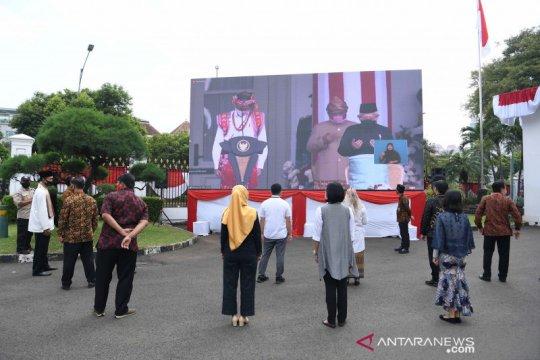 Suasana detik-detik proklamasi di Kompleks Istana Kepresidenan