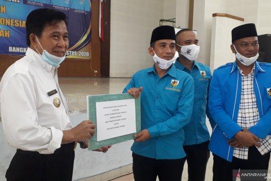 Pemerintah Kabupaten Bangka Tengah dorong KNPI berwirausaha