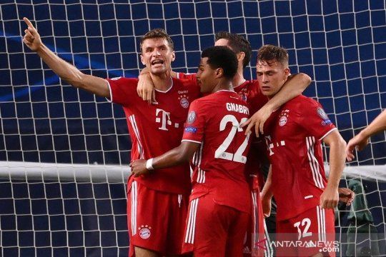 Bayern Muenchen melenggang ke final Liga Champions setelah taklukkan Lyon 3-0
