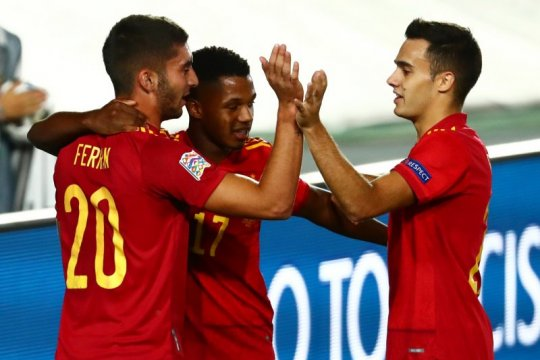 Striker timnas Spanyol Ansu Fati pencetak gol termuda sepanjang masa