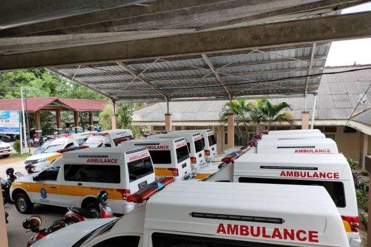 Dinkes Bangka  distribusi 12 unit mobil ambulance COVID-19
