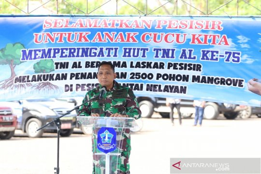 TNI AL Bangka Belitung tanam 2.000 batang mangrove