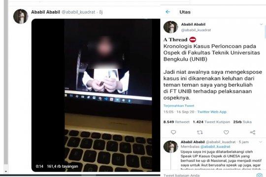 Viral di twitter, Universitas Bengkulu bentuk tim pencari fakta ospek