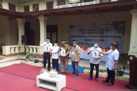 KPU Bangka Barat undi nomor urut pasangan peserta Pilkada 2020