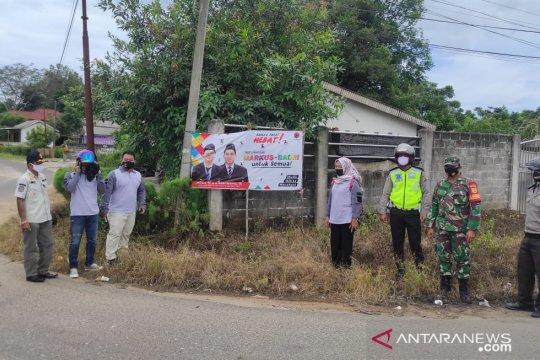 Tim gabungan tertibkan 578 alat peraga kampanye di Bangka Barat