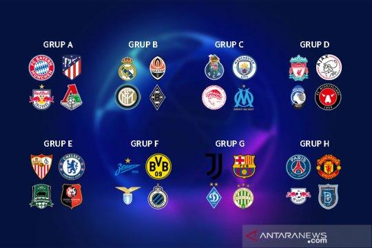 Hasil undian grup Liga Champions: duel Ronaldo vs Lionel Messi terjadi lagi