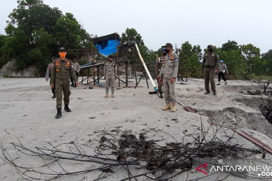 Tim gabungan Bangka tertibkan penambangan biji timah ilegal