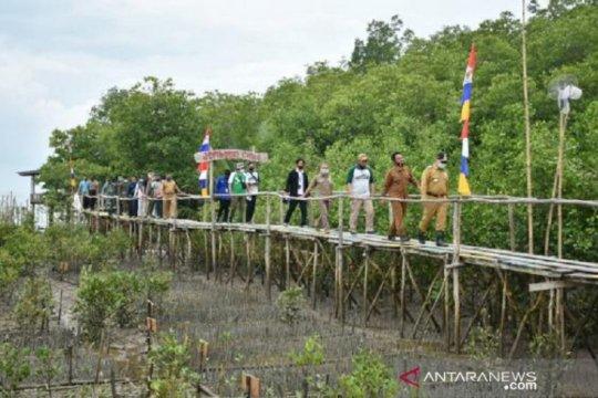 Gubernur Babel Resmikan Program Padat Karya Penanaman Mangrove di Kurau Timur