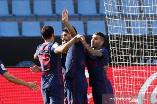 Luis Suarez girang cetak gol dan bantu Atletico Madrid menang lagi