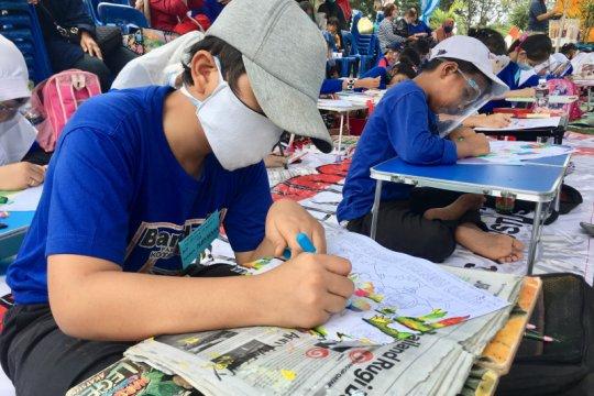 Protokol kesehatan dalam lomba mewarnai Trendy Club