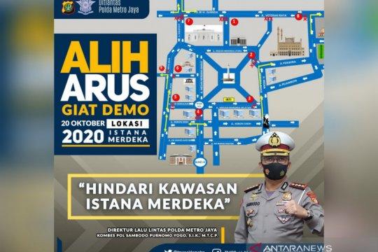 Pengguna kendaraan diminta hindari kawasan Istana Merdeka
