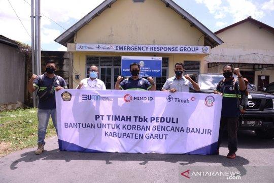 ERG PT Timah Turun Bantu Korban Banjir Garut