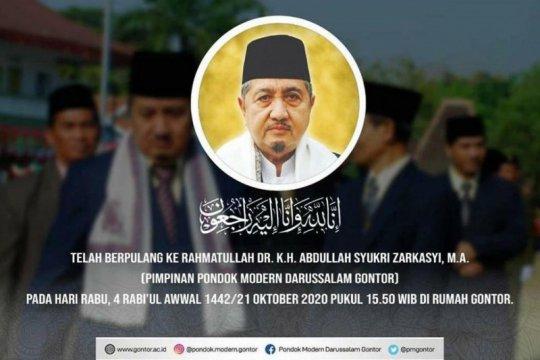 KH Adbullah Syukri Zarkasyi pimpinan  Pondok Modern Darrusalam Gontor meninggal