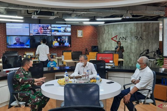 Pangdam Jaya sambangi Kantor Berita Antara bahas Indonesia Optimis